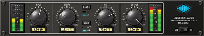NYC Recording Studio Gear UAD Precision Maximizer